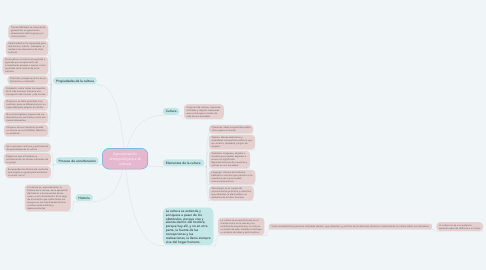 Mind Map: Aproximación antropológica a la cultura