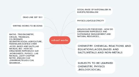 Mind Map: school works