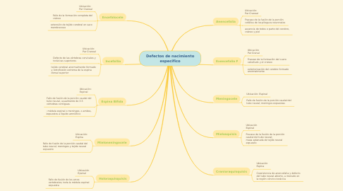 Mind Map: Defectos de nacimiento especifico