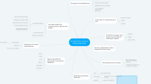 Mind Map: Sociedad de consumo (Maquillaje falso)