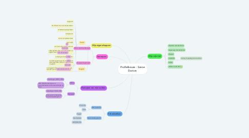 Mind Map: Profielkeuze - Sanne Damen