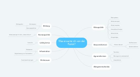 Mind Map: Was erwarte ich von der Politik?