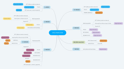 Mind Map: VACUNACION