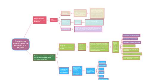 Mind Map: Processos de aprendizagem na docência - L. S. Shulman