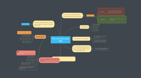 Mind Map: Fluxo da informação DNA