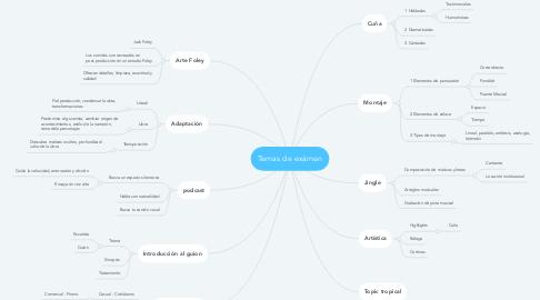 Mind Map: Temas de exámen