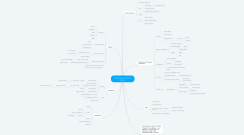 Mind Map: old age group related to leisure