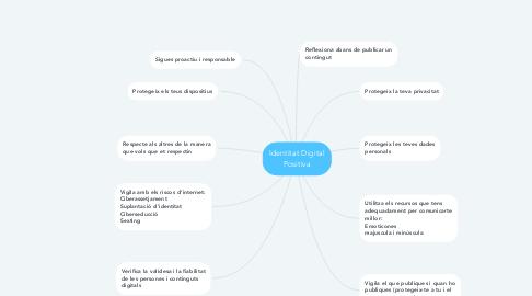 Mind Map: Identitat Digital Positiva