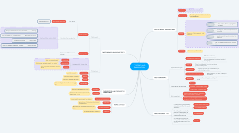 Mind Map: TESTING AND EVALUATION