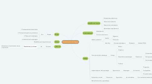 Mind Map: Administración estratégica