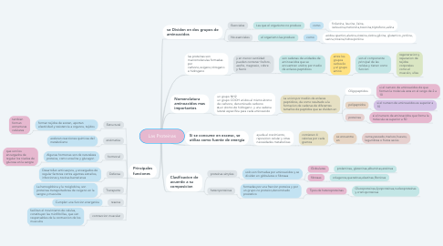 Mind Map: Las Proteinas
