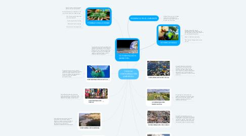 Mind Map: TIPOS DE CONTAMINACIÓN AMBIENTAL