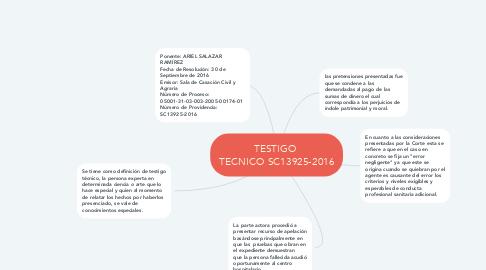 Mind Map: TESTIGO  TECNICO SC13925-2016