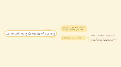 Mind Map: II. Đặc điểm chung của các cấp tổ chức sống