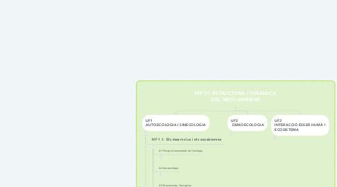 Mind Map: MP 01 ESTRUCTURA I DINÀMICA DEL MEDI AMBIENT