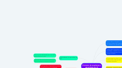 Mind Map: Principios de enseñanza y aprendizaje de LE