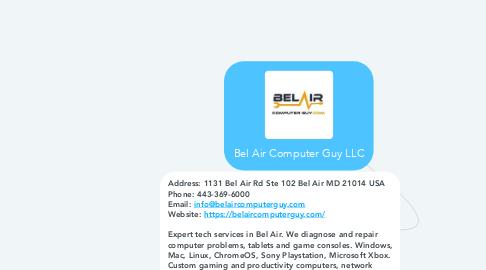 Mind Map: Bel Air Computer Guy LLC