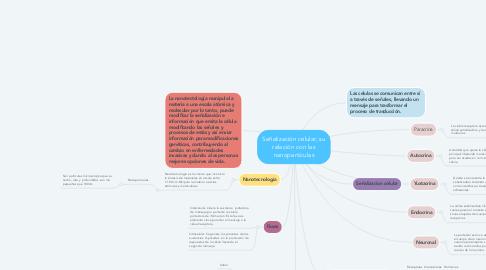 Mind Map: Señalización celular, su relación con las nanopartículas