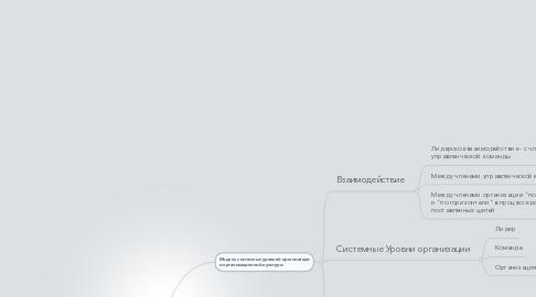 Mind Map: организационный