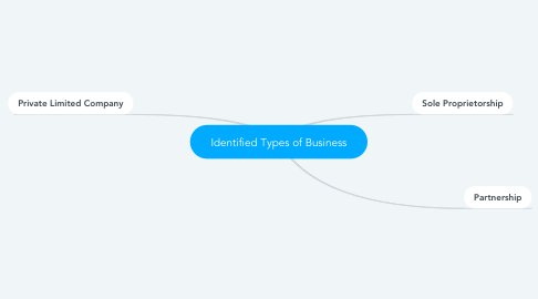 Mind Map: Identified Types of Business