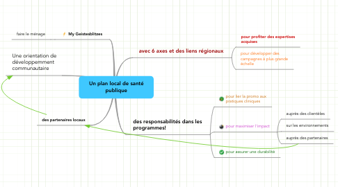 Mind Map: Un plan local de santépublique