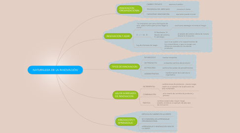 Mind Map: NATURALEZA DE LA INNOVACIÓN