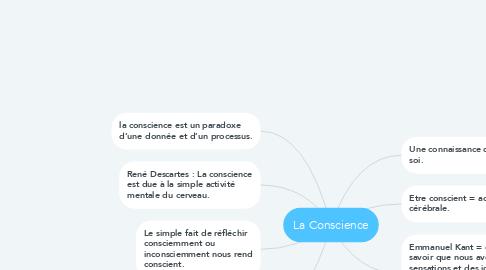 Mind Map: La Conscience