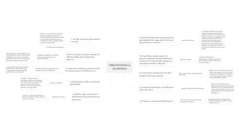 Mind Map: PRINCIPIOS DE LA ECONOMIA