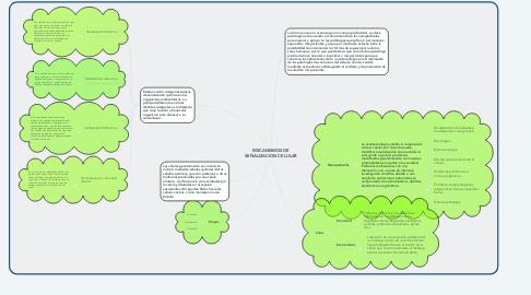 Mind Map: MECANISMOS DE SEÑALIZACION CELULAR