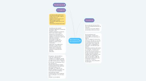 Mind Map: Mecanismos de Recombinación