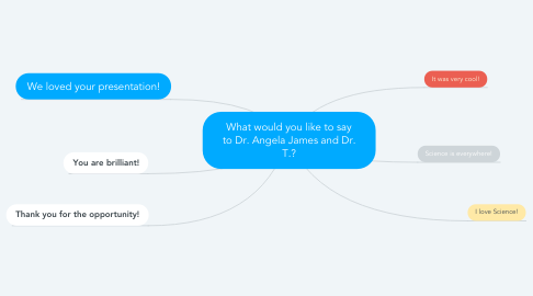 Mind Map: What would you like to say to Dr. Angela James and Dr. T.?