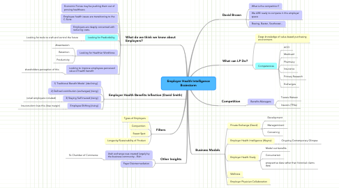 Mind Map: Employer Health Intelligence Brainstorm