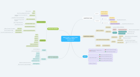 Mind Map: NEGATIVES & QUESTIONS  TRẦN BẢO NGỌC - 2057010025