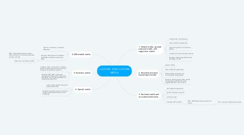 Mind Map: CULTURE  AND CULTURE MEDIA