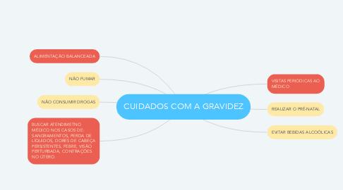 Mind Map: CUIDADOS COM A GRAVIDEZ