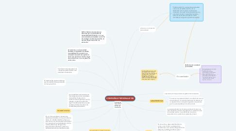 Mind Map: COMPAÑÍAS PERSONALISTAS