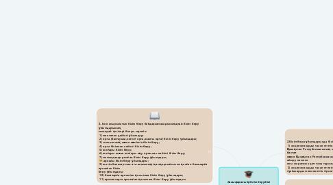 Mind Map: Халықаралық білім берудегі нормативтік актілер.Білім туралы  Қазақстан Республикасының 2007 жылғы 27 шілдедегі № 319 Заңы. 6 - тарау Білім беру қызметінің субьектілері,40 - бап.Білім беру ұйымдары.