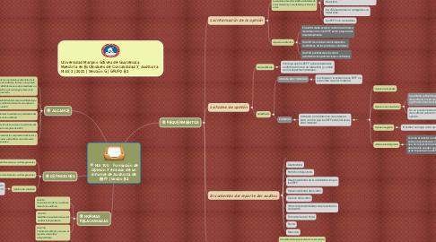 Mind Map: NIA 700   Formación de Opinión y emisión de un Informe de Auditoria de EEFF | Grupo B2