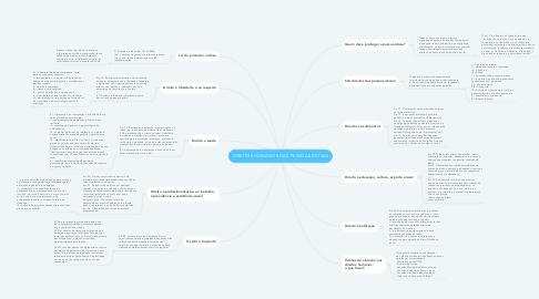 Mind Map: DIREITOS HUMANOS DAS PESSOAS IDOSAS