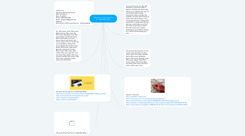 Mind Map: TLD Auto Financing Pace FL | 850-905-0350