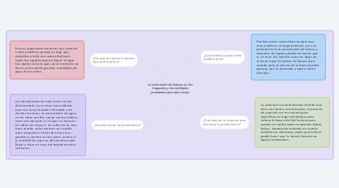 Mind Map: La saturación de basura en los tragantes y los múltiples problemas que esto causa.