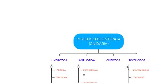 Mind Map: PHYLUM COELENTERATA (CNIDARIA)