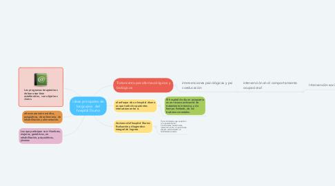 Mind Map: Ideas principales de los grupos   del hospital Diurno