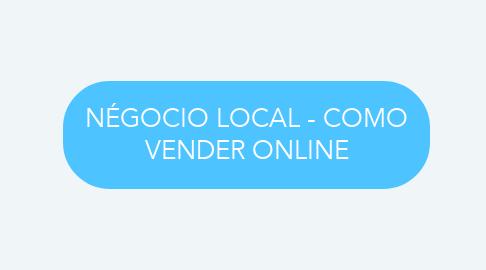 Mind Map: NÉGOCIO LOCAL - COMO VENDER ONLINE