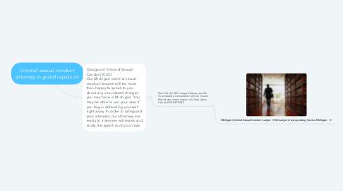 Mind Map: criminal sexual conduct attorney in grand rapids mi
