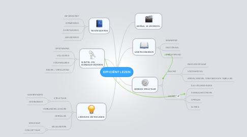Mind Map: EFFICIËNT LEZEN