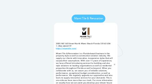 Mind Map: Miami Tile & Renovation