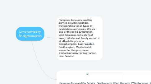 Mind Map: Limo company Bridgehampton