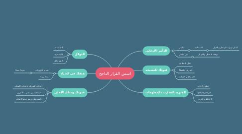 Mind Map: اسس القرار الناجح