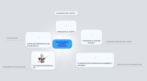 Mind Map: SALUD PUBLICA  (NORMAS TÉCNICAS)
